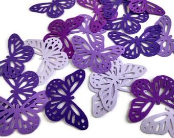 Butterfly die cut, Butterflies, purple butterfly confetti, spring confetti, butterfly embellishment