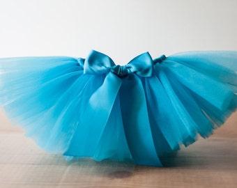 Turquoise 'Sandra Sue' Tutu, kids tutu, sizes 2, 3, 4, photo prop, birthday tutu, 2T, 3T, 4T, pageant tutu, dress up skirt, teal tulle skirt