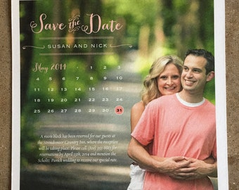 Custom Calendar Photo Save the Date