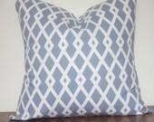 Pillow Cover,Blue,Robert Allen Fret, Designer Pillow,Hydrangea,Throw Pillow