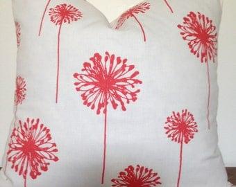 Pillow Cover,Coral Dandelion, Premier Prints Throw Pillow,Decorative Pillow, Home Decor,18x18