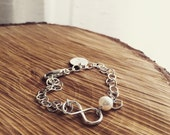 Infinity Bracelet -  Handmade Infinity Love Initial Bracelet - Mothers Gift/ Bridesmaid Gift/Grandmothers Gift/Best Friends/Holiday Gift