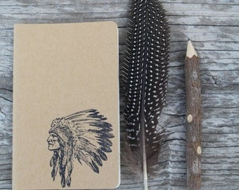 Mini Native American Chief Headdress Journal
