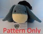 Crochet Eeyore Inspired Amigurumi PATTERN