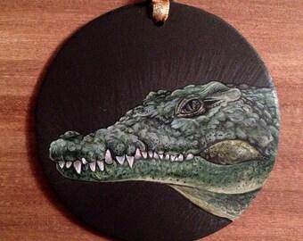 Crocodile Christmas Ornament Holiday Crocodile Gift Wildlife Ornament