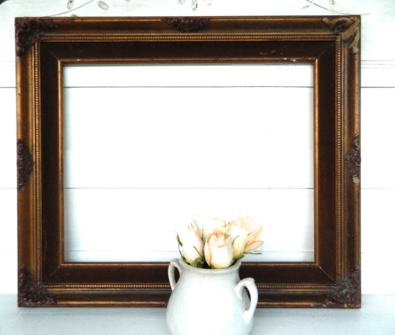 Vintage Wood Frame Large Ornate