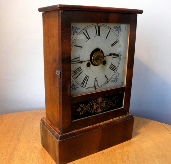 Antique Alarm Clock Jerome Amp Co Cottage Clock
