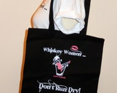 LIMITED EDITION- Got Whiskey's newest  Screenprint Large CanvasTote Bag-Choice of Colors