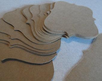 Blank top note or bracket cards craft brown
