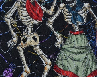 Day of the Dead Dancers Quilted Postcard