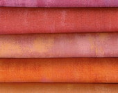 Grunge By Basic Grey For Moda Fabrics 5 Warm Bright  Fat Quarters 100 Percent Premium Cotton Quilting Fabric