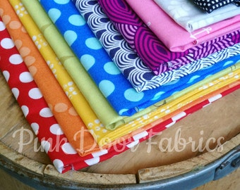 Rainbow - Blenders - Monthly Stash Club - Fat Quarter Bundle - Various Rainbow Tone-on-Tone/Blenders
