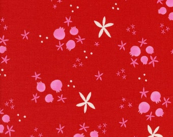Tinsel - Winter Pomegranates in Red - 5017-2 - 1/2 Yard