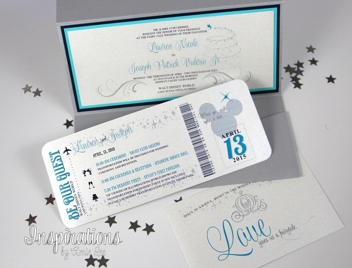 Wedding Invitations Disney: Disney Wedding Invitations Boarding Pass Invitations Wedding