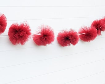 Wine tulle garland Party decorations, weddings, baby showers, room decor