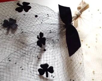 Vintage Hats BirdCage Fascinator (2)  1950s