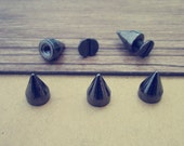 30pieces 9mm diy punk rivet alloy spike gunmetal color  bullet   bag shoes clothing accessories