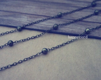 16ft  3mm Antique bronze bright bead  chains