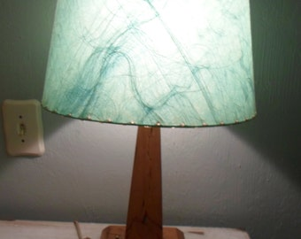 Fabulous Mid Century Lamp with Turquoise Fiberglass Lamp Shade *Retro *Eames Era *Atomic