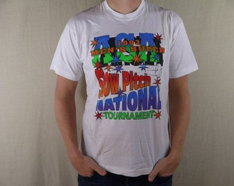 Vintage 1993 ASA Men's Super Slow Pitch National Tournament T Shirt