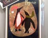 Penguins Rejoice Holiday Greeting Cards - set of 8