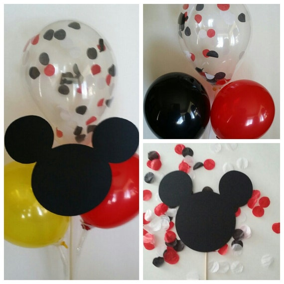 Mickey minnie mouse balloon centerpiece by dk delektables