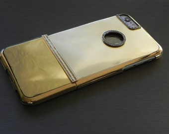 iPhone 6 Plus Solid Gold and Diamond iPhone Case - 2.65ct.
