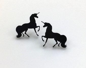Unicorn Earrings | Laser Cut Jewelry | Hypoallergenic Studs