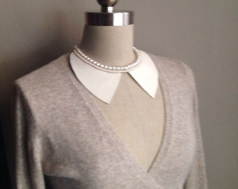 Neoprene and Pearl Hybrid Collar Necklace
