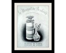 "1953 CARON Perfume Ad ""Good Luck"" Vintage Advertisement Art Decor Print"