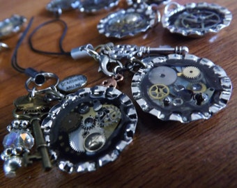 Steampunk Cell Charms