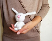 Crochet toy Bunny cute white rabbit for kids