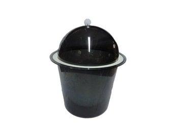 CLEARANCE Vintage Lucite Ice Bucket - Vintage Barware, Tasty Temp Ice Bucket, Smoked Lucite, Panton Kartell, Mid Century Modern, Vintage Bar