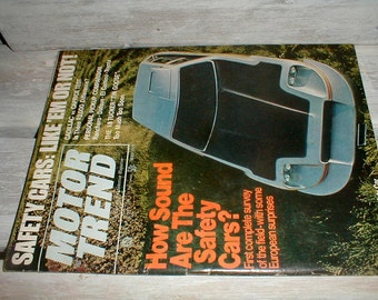 Motor Trend Magazine May 1971 *Safety Cars: Like 'Em Or Not*