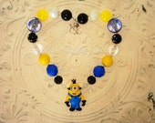 Minion Inspired Chunky Bead Necklace