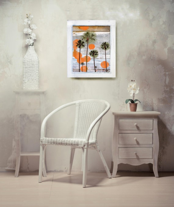 "Vintage Contemporary Framed Signed Fine Art Print "" California "" 18"" X 24"" by Irena Orlov"
