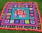 vibrant picnic blanket