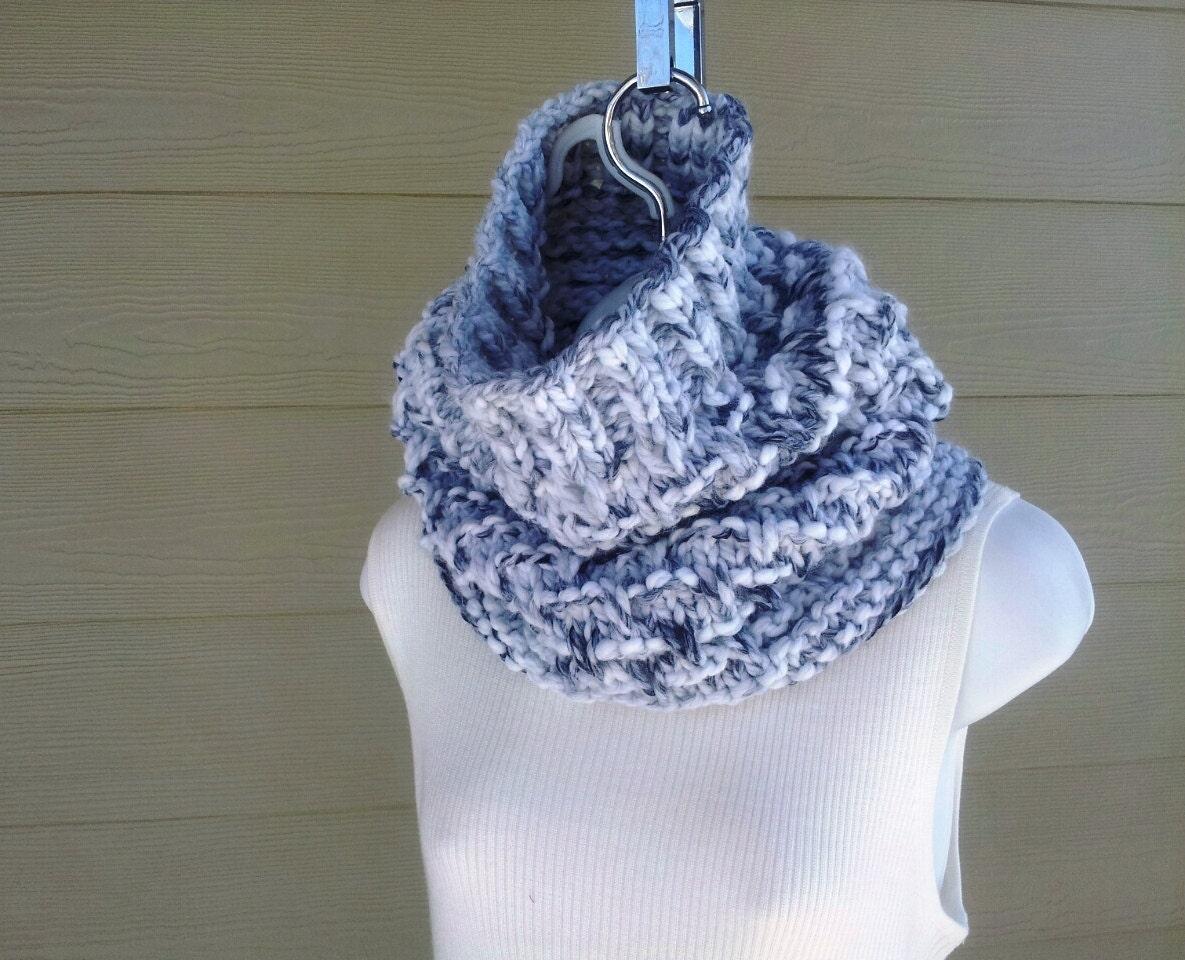 Hunky Chunky Cowl PDF knitting pattern for men or women