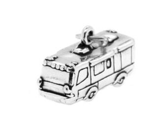 Sterling Silver Travel RV Charm (3d Charm - Hollow Bottom)