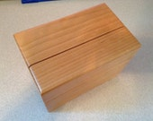 3x5 Wooden Recipe Box