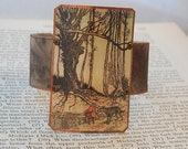 Fairy Tale jewelry Red Riding Hood Arthur Rackham mixed media jewelry