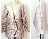 1980s Silk Cutout Jacket - L/XL