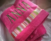 Softest Ever Baby Blanket with Monogrammed Name Included-Quick Ship