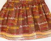 Custom baby/girl toddler girl thanksgiving skirt 4T pull on skirt holiday 3T fall baby jumper 5T baby skirt I am thankful happy thanksgiving