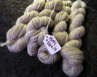 Llama Yarn | Light Grey / Taupe  | 100% Llama | 2-ply worsted - Betty and Petals