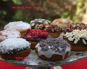 Vegan Gluten free  Vanilla donuts,  love,healthy,gluten free , doughnuts, donuts,birthday,wedding.