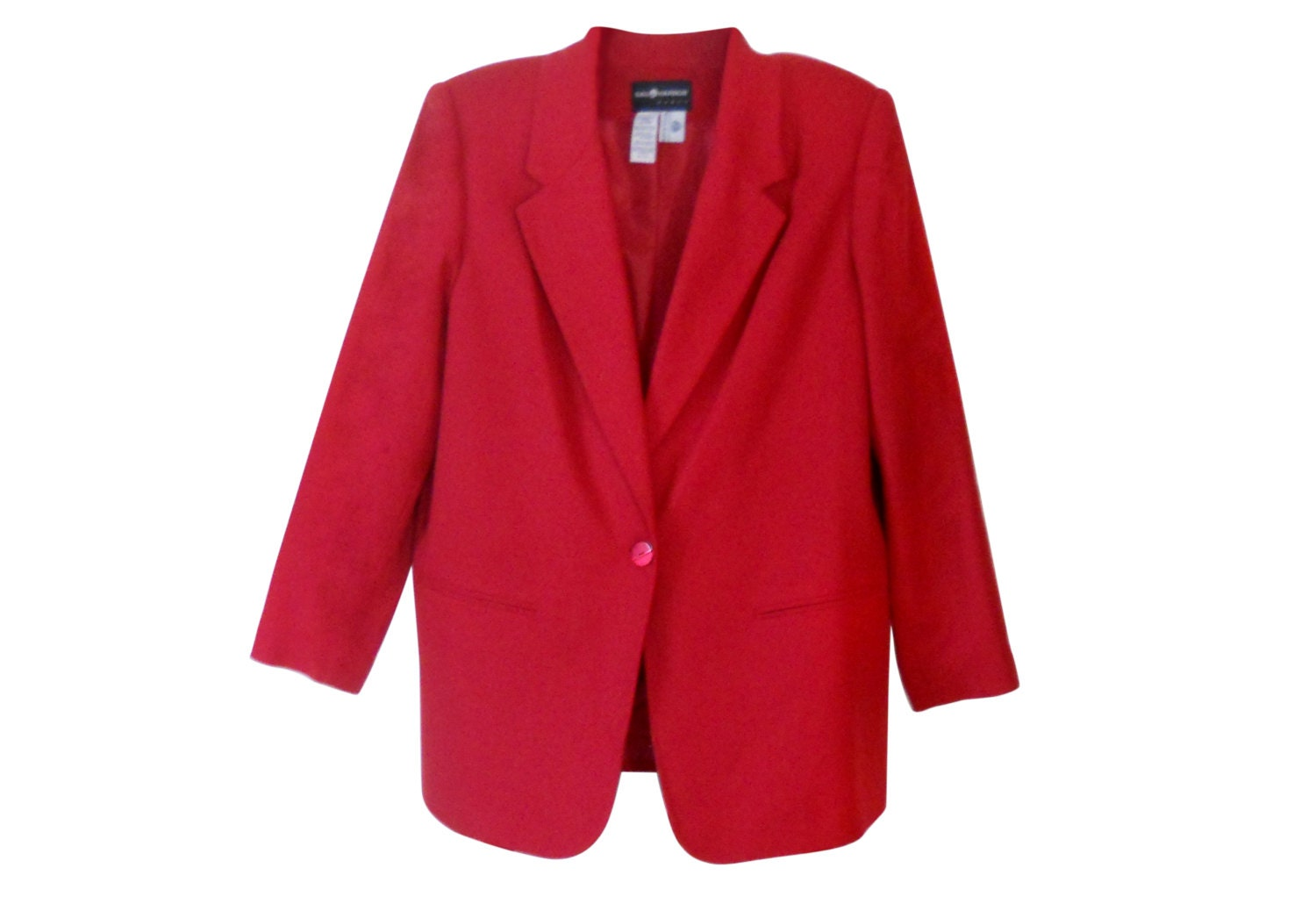 Plus Size Blazer Women Red Blazer Women Wool Blazer Ladies