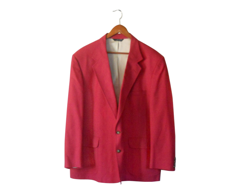 Men Pink Blazer Jacket Men Suit Jacket Men by TheVilleVintage