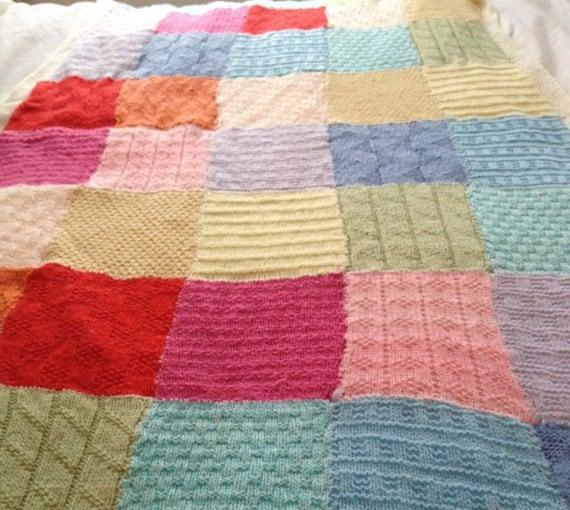 Patchwork Blanket Knitting Pattern PDF Instant Download 11