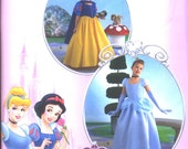 Simplicity Pattern 2817 -UNCUT- detailed Disney Princess Costumes Snow White and Cinderella Girls sz. 3 to 6